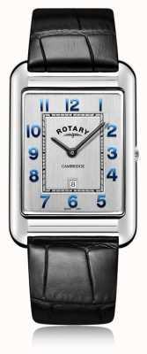 Rotary |紳士黒革ストラップ日付|ベクターイラスト| CLIPARTO GS05280/70
