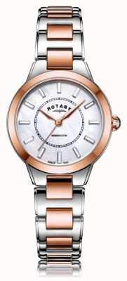 Rotary  レディースツートンカラーローズゴールドブレスレット  Jewelry-stores.co.uk LB05377/41