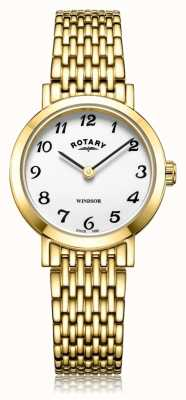 Rotary |レディースゴールドプレートブレスレット| Jewelry-stores.co.uk LB05303/18