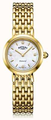 Rotary |レディースゴールドブレスレット|写真レディースゴールドブレスレットパールダイヤルの母 LB00900/41/D