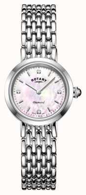 Rotary |レディースステンレススチールブレスレット| Jewelry-stores.co.uk LB00899/07/D