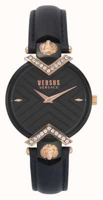 Versus Versace |レディースブラックレザーストラップ| VSPLH1419