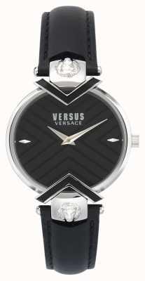 Versus Versace |レディースブラックレザーストラップ| VSPLH0119