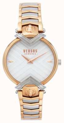 Versus Versace |レディース2トーンブレスレット|ホワイトダイヤル| VSPLH0719