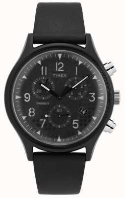 Timex | mk1スチール超新星クロノ革ストラップ TW2T29500D7PF