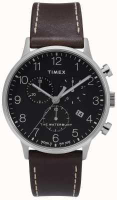Timex |メンズウォーターベリークラシッククロノ| Jtogo.jpブラックダイヤル| TW2T28200D7PF