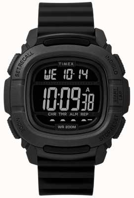 Timex |ブーストショックブラックデジタル| TW5M26100SU