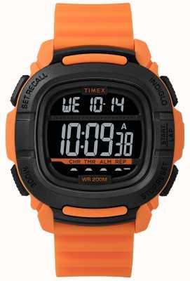 Timex |ブーストショックオレンジとブラックデジタル TW5M26500SU