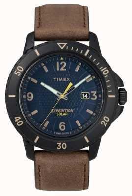Timex |ガラティンソーラーブラウンレザー|ブルーダイヤル| TW4B14600D7PF