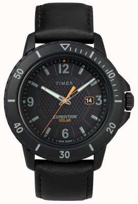 Timex |ガラティンソーラーブラックレザー|ブラックダイヤル| TW4B14700D7PF