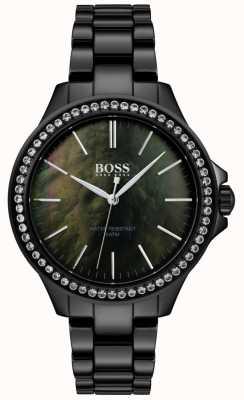 Boss |レディースブラックステンレススチールウォッチ| Jewelry-stores.co.uk 1502456