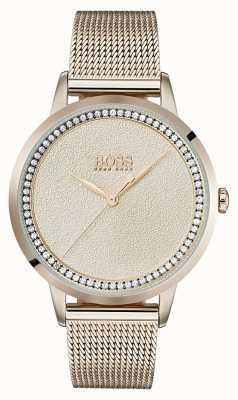 Boss |レディースペールローズゴールドメッシュブレスレット| Jewelry-stores.co.uk 1502464