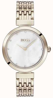 BOSS |レディース淡いローズゴールドメタルブレスレット| 1502480