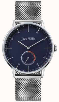 Jack Wills |メンズバットソンiiスチールメッシュブレスレット|写真スチールメッシュブレスレットブルーダイヤル| JW002BLMH