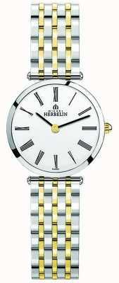 Michel Herbelin |レディースイプシロン|ベクターイラスト| CLIPARTOツートーンエクストラフラットブレスレット| Jewelry-stores.co.uk 17116/BT01N