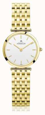 Michel Herbelin |レディースイプシロン|ベクターイラスト| CLIPARTOエキストラフラットゴールドpvdブレスレット| Jewelry-stores.co.uk 17116/BP11