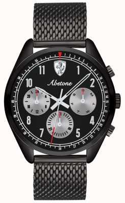 Scuderia Ferrari |メンズアベトーネブラックメッシュブレスレット|ベクターイラスト| CLIPARTOブラックダイヤル| 0830573