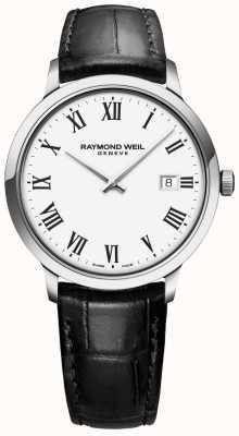 Raymond Weil |トッカータブラックレザーストラップ|ホワイトダイヤル| 5485-STC-00300