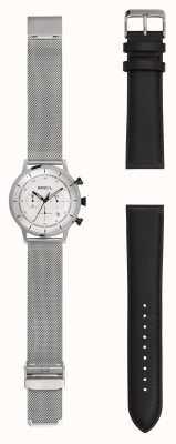 Breil |紳士ステンレススチールメッシュウォッチ| Jewelry-stores.co.ukエクストラレザーストラップ| TW1806