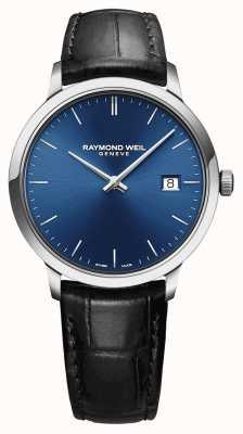 Raymond Weil メンズトッカータブルーダイヤルブラックレザーストラップ 5485-STC-50001