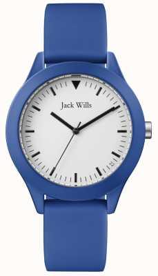 Jack Wills |紳士ブルーラバーストラップ|ベクターイラスト| CLIPARTOホワイトダイヤル| JW009BTBL