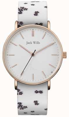 Jack Wills |レディースサンドヒルホワイトシリコン|ベクターイラスト| CLIPARTOホワイトダイヤル| JW018FLWH