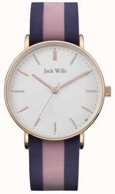 Jack Wills |レディースサンドヒル2トーンシリコンストラップ| Jewelry-stores.co.ukホワイトダイヤル| JW018PKBL