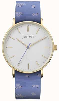 Jack Wills |レディースサンドヒルブルーシリコンストラップ|ホワイトダイヤル| JW018FLBL