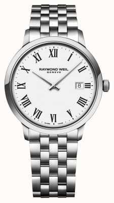 Raymond Weil |メンズトッカータステンレスブレスレット|ホワイトダイヤル| 5485-ST-00300
