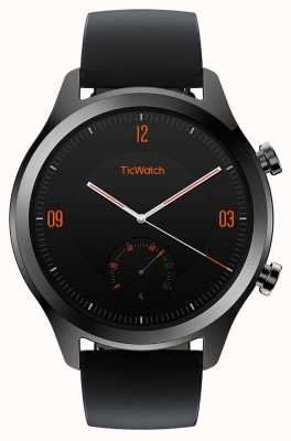 TicWatch C2 |オニキススマートウォッチ|ブラックレザーストラップ 130688-WG12036-ONYX