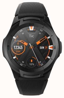 TicWatch S2 |真夜中のスマートウォッチ|ブラックシリコンストラップ 131585-WG12016-BLK