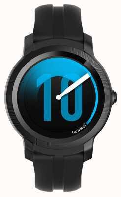 TicWatch E2 |シャドウスマートウォッチ|黒のシリコンストラップ 131586-WG12026-BLK