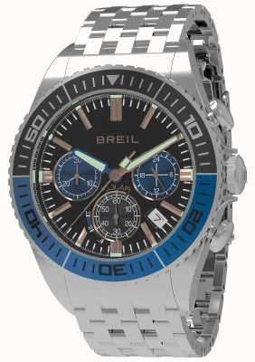 Breil |メンズマンタ1970ソーラーブラックダイヤル|ブラック/ブルーベゼル TW1820