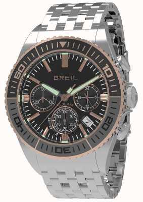 Breil |メンズマンタ1970ソーラーブラックダイヤル|グレー/ブラックベゼル| TW1821