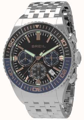 Breil |メンズマンタ1970ソーラーブラックダイヤル|ダークブルー/ブラックベゼル TW1822