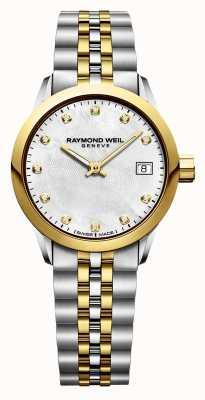 Raymond Weil レディースフリーランサーダイヤモンドツートーンステンレススチール 5626-STP-97081