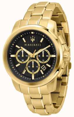 Maserati Successoメンズゴールドメッキ時計 R8873621013