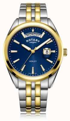 Rotary |メンズヘンリー|ブルーダイヤル|ステンレスブレスレット| GB05291/05