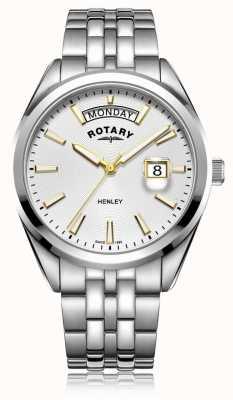 Rotary |メンズヘンリーホワイトダイヤル|シルバーステンレススチールブレスレット GB05290/70