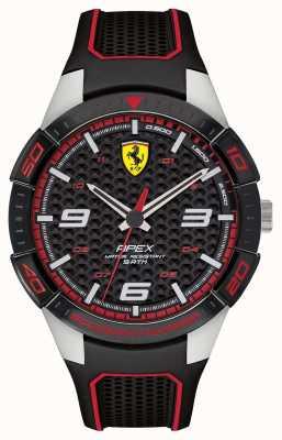 Scuderia Ferrari |メンズアペックスブラックラバーストラップ|写真ブラックラバーストラップブラックダイヤル 0830630