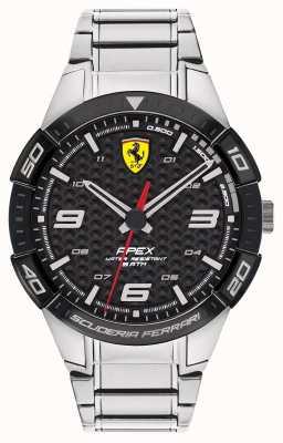 Scuderia Ferrari |男性の頂点|写真男性の頂点ステンレススチールブレスレット|写真ステンレススチールブレスレットブラックダイヤル| 0830641