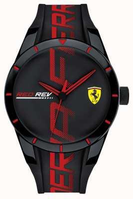 Scuderia Ferrari |メンズブラック/レッドシリコンストラップ|ブラックダイヤル| 0830614