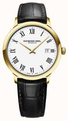 Raymond Weil |メンズトッカータ|古典的なpvdゴールドケースホワイトダイヤル| 5485-PC-00300