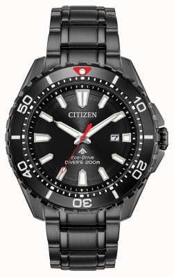 Citizen メンズプロマスターダイバーエコドライブブラックpvdメッキ BN0195-54E
