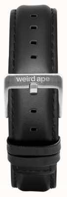 Weird Ape ブラックレザー16mmストラップシルバーバックル ST01-000045