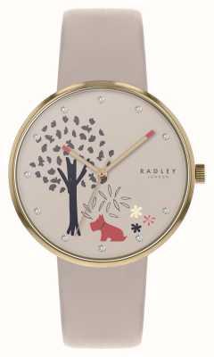 Radley |エッピングフォレスト|木と犬のモチーフダイヤル|ヌードレザー| RY2786