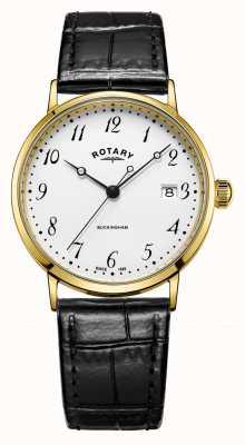 Rotary メンズ9ctゴールドケースバッキンガム時計 GS11476/18