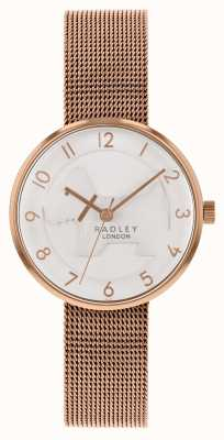 Radley |レディースは、ゴールドメッシュブレスレットをバラ| Wholesale-mensclothing.comホワイトエンボスドッグダイヤル|ベクターイラスト| CLIPARTO RY4392