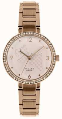Radley |レディースローズゴールドスチールブレスレット| Jewelry-stores.co.uk犬のダイヤルをカット|ベクターイラスト| CLIPARTO RY4394
