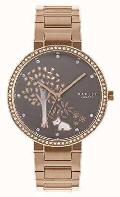 Radley |レディースローズゴールドスチールブレスレット| Jewelry-stores.co.ukホワイト/グレーツリーダイヤル|ベクターイラスト| CLIPARTO RY4386
